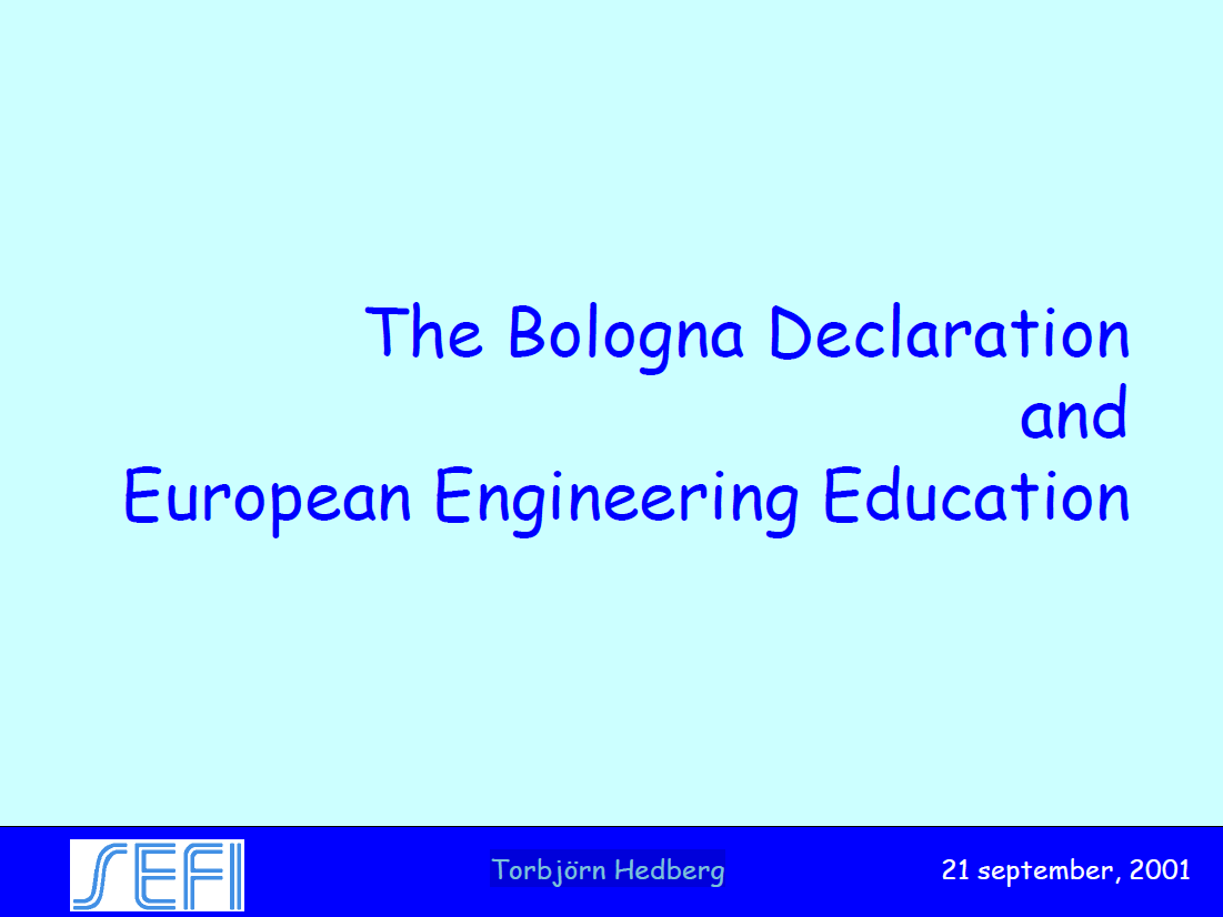 Bologna Declaration And The European Engineering Education