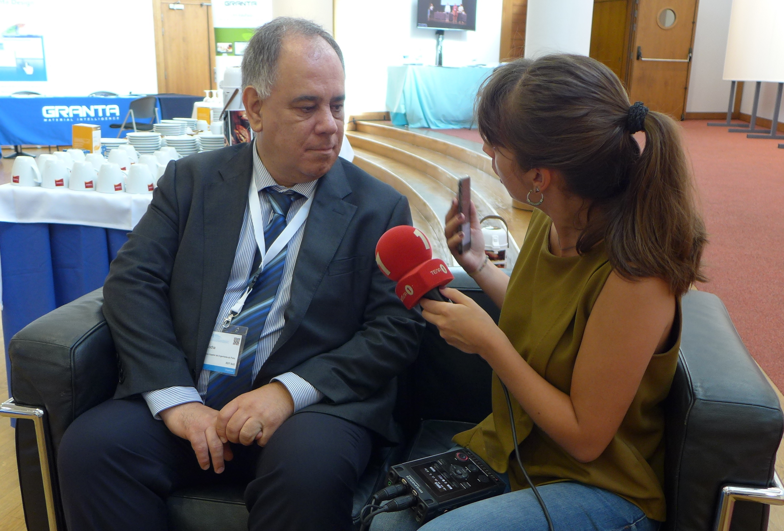 Prof Rocha, The Conference Organiser, Giving An Interview