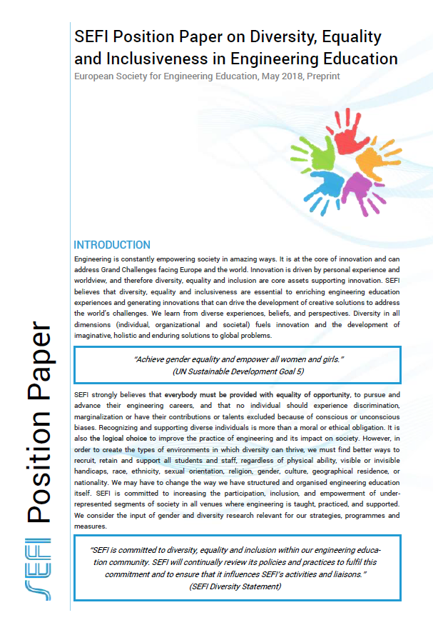 SEFI Position Paper On Diversity, Equality And Inclusiveness In Engineering Education