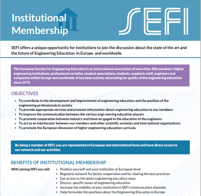 SEFI Promotional Leaflets