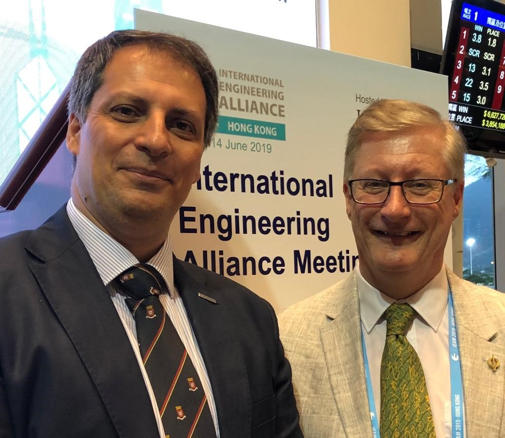 Picture From Right To Left: Damien Owens (ENAEE President) And José Carlo Quadrado  (ENAEE Vice-President And Former SEFI Board Member)-at The IEA Meeting In Hong Kong, June 2019.